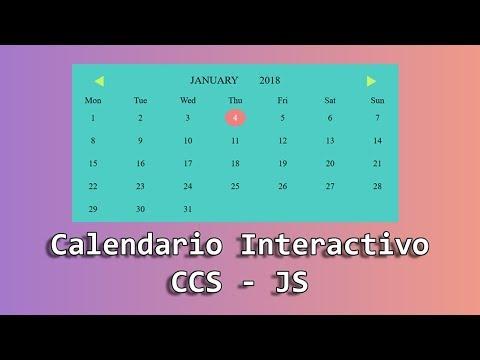 Cómo Hacer Un Calendario Con HTML, CSS Y JavaScript - Taller Desarrollo Web #2