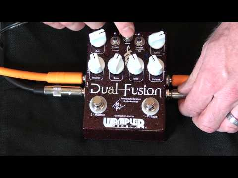 Wampler Pedals - Visual Stacking/switching Demo For The Dual Fusion