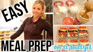 EASY MEAL PREP ON A BUDGET // COOK WITH ME 2019 // CHEAP MEAL PREP + GROCERY HAUL