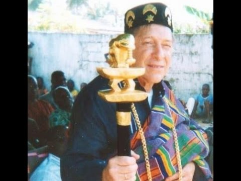 Crowning Cerimony of Dr. Irving Schafner as Chief of Ivory Coast