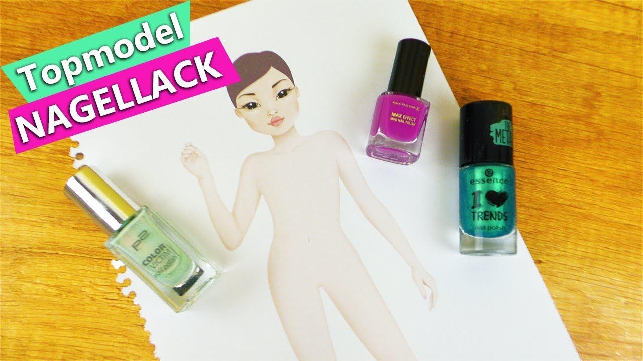 Topmodel malen mit NAGELLACK?! Geht das?! DIY Nagellack Experiment ...