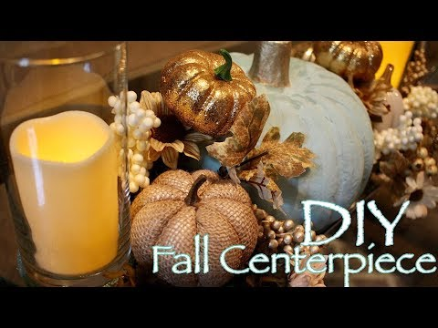 DIY Fall Centerpiece - Dollar Tree