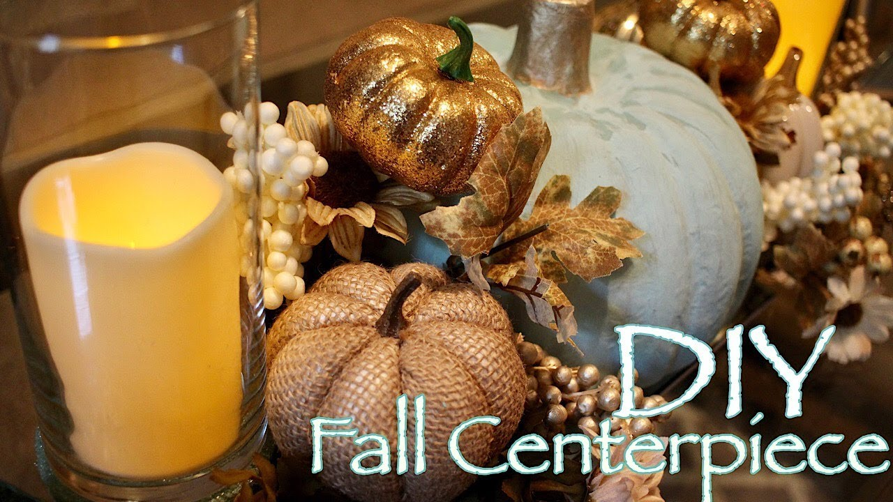 Diy Fall Centerpiece Dollar Tree