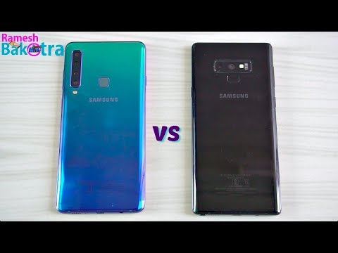 Samsung Galaxy A9 (2018) vs Galaxy Note 9 SpeedTest and Camera Comparison