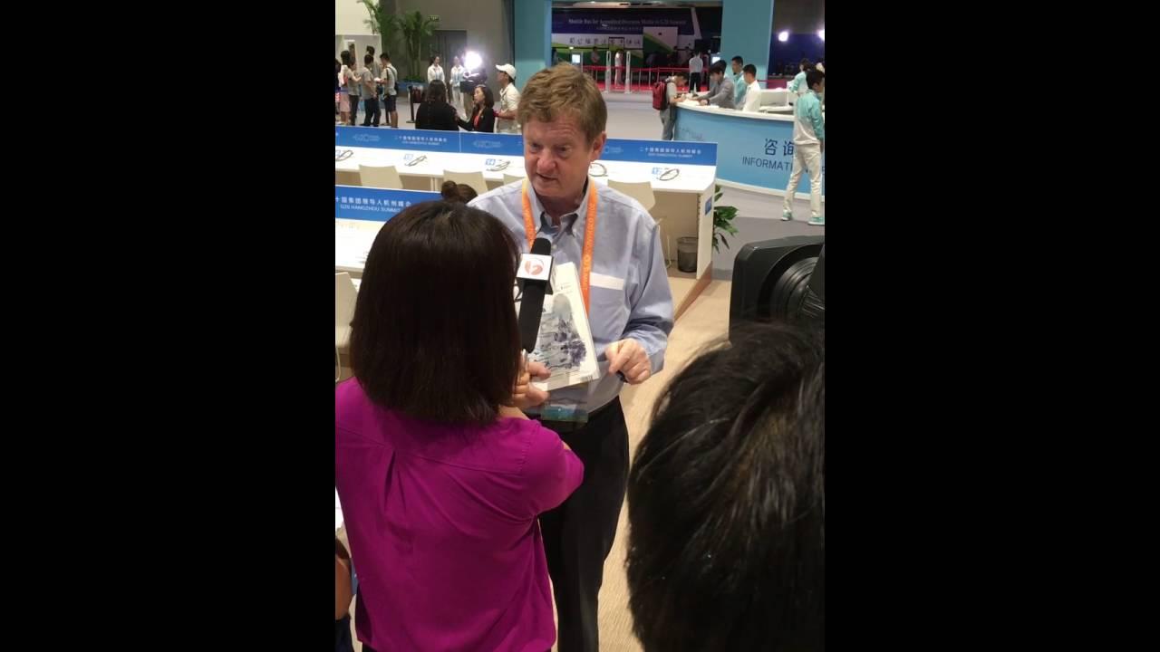 John Kirton doing a TV interview