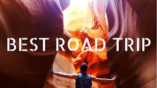 BEST ROAD TRIP: Grand Canyon, Antelope Canyon, Zion, Horseshoe Bend | 4K
