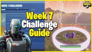 All Easy Challenges + NEW Hunting Party Skin | S6 Week 7 Challenge Guide - Fortnite