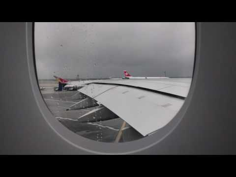 Asiana Airlines Flight OZ221 (JFK-ICN) Pushback, Taxi and Takeoff