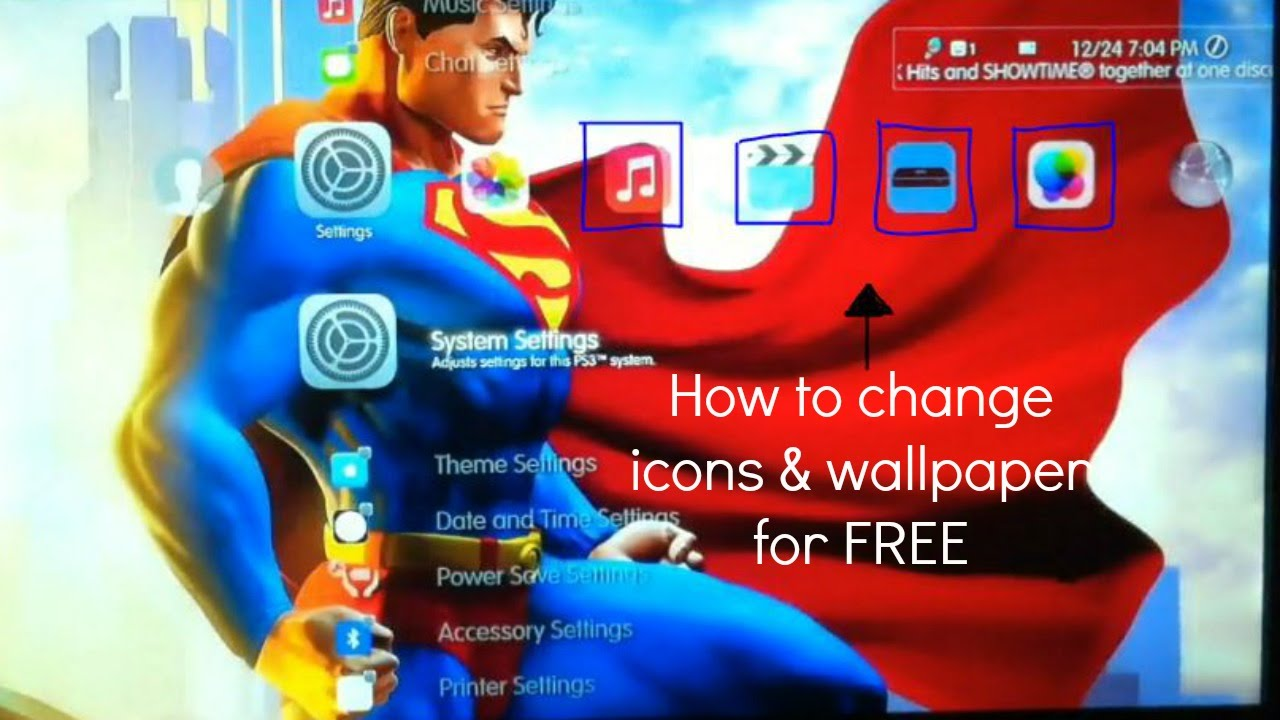 How To Change Icons Your Wallpaper For Free On Ps3 2016 Youtube