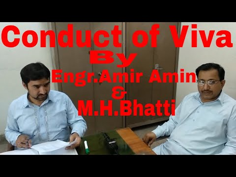 Viva being conducted in Electronics Final year class