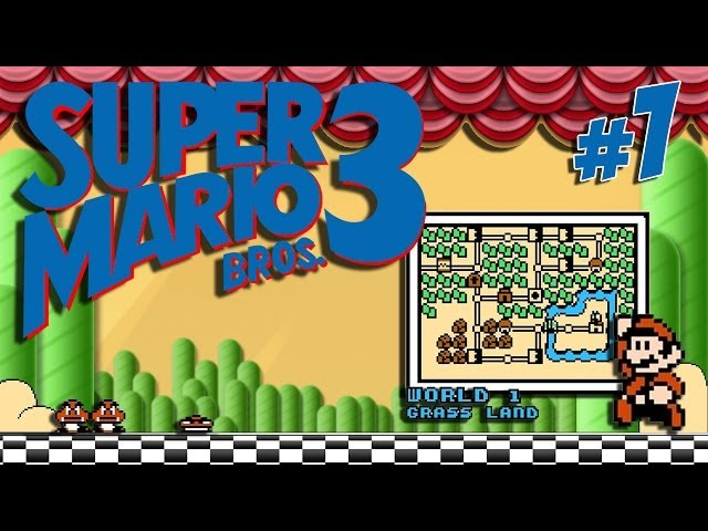MAH MARIO! Super Mario Bros.3: #1 / w1: Grass Land Videos De Viajes