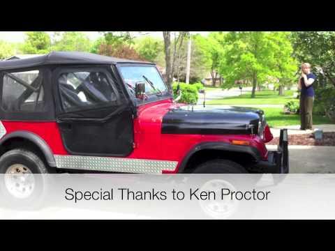 1984 AMC Jeep CJ7 - 350 Install