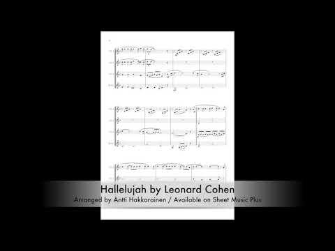 Hallelujah by Leonard Cohen - Clarinet Quartet