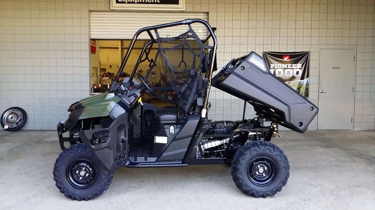 2016 honda pioneer 700 start up video side by side atv utv sxs utility vehicle. Black Bedroom Furniture Sets. Home Design Ideas