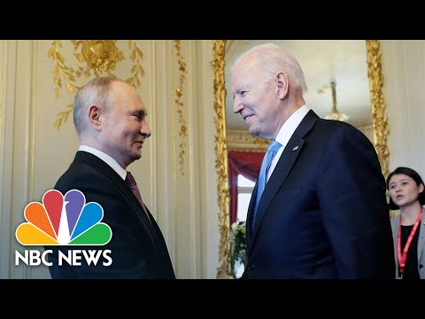 Watch: Biden And Putin Meet, Shake Hands At Geneva Summit | NBC News