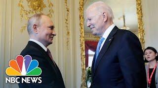 Saib: Biden Thiab Putin Sib Ntsib, Tuav Tes Ntawm Geneva Qhov Chaw Sib Tw | Xov Xwm NBC