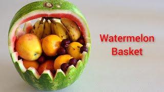 How to Cut wateŗmelon | fruits cutting and decorating ideas | watermelon Basket