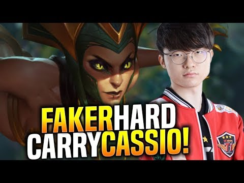 SKT T1 Faker Hard Carry with Cassiopeia! - When Faker Picks Cassio Mid!   SKT T1 Replays