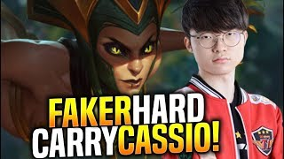 SKT T1 Faker Hard Carry with Cassiopeia! - When Faker Picks Cassio Mid! | SKT T1 Replays