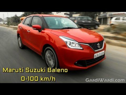 Maruti Suzuki Baleno Petrol 0-100 km/h, Top Speed Attempt
