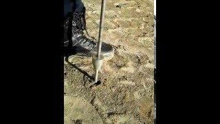 плотномер . Проверка уплотнения песок