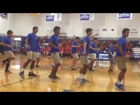 Peninsula Catholic High School Class of 2017 Boys Dance for Senior-Junior Showdown