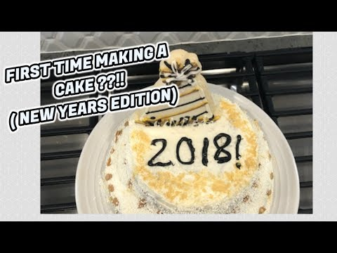 FIRST TIME MAKING A CAKE  (NEW YEAR EDITION) ||Asia Monet Daily Vlogs