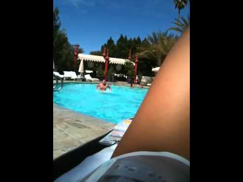 Ultimate pool workout at the Parker Palm Springs