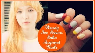 Kpop Nail Art | Red Velvet 레드벨벳 Wendy 웬디 'ice Cream Cake' Inspired Nails