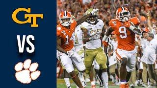 Georgia Tech vs #1 Clemson Highlights Week 1 College Football 2019