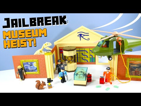 Youtube Roblox Toys Jailbreak Roblox Jailbreak Museum Heist Playset Toy Review Jazwares Youtube