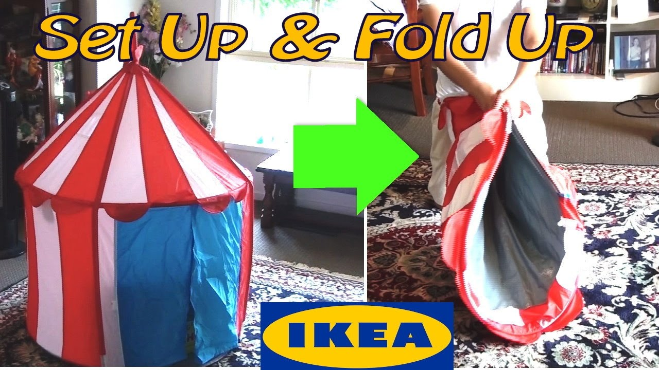 Ikea Cirkustalt Tent Assemble u0026 How To Fold Up And Store Away Once Finished : fold up play tent - memphite.com