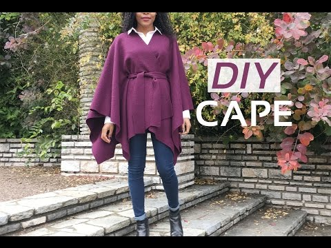 DIY No Sewing Fall - Winter Cape // DIY Cape Automne - Hiver Sans Couture