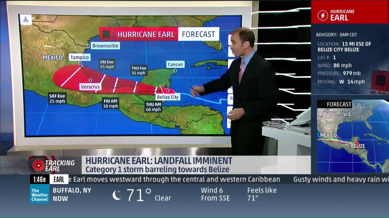 the weather channel live coverage - hurricane earl