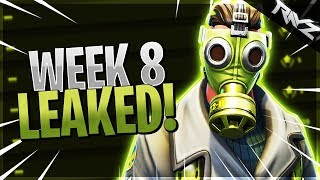 ALL WEEK 8 CHALLENGES LEAKED! SEARCH BETWEEN A BEAR, CRATER & SHIPMENT! (Fortnite BR Switch)