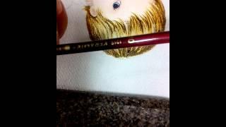 Como pintar os cabelinhos em fraldas