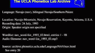 Navajo audio: nav_word-list_1993_03