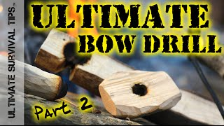 DIY - Bow Drill Fire - Part 2 - Make YOUR Fire - Step-By-Step Survival Bow Drill Training - How to