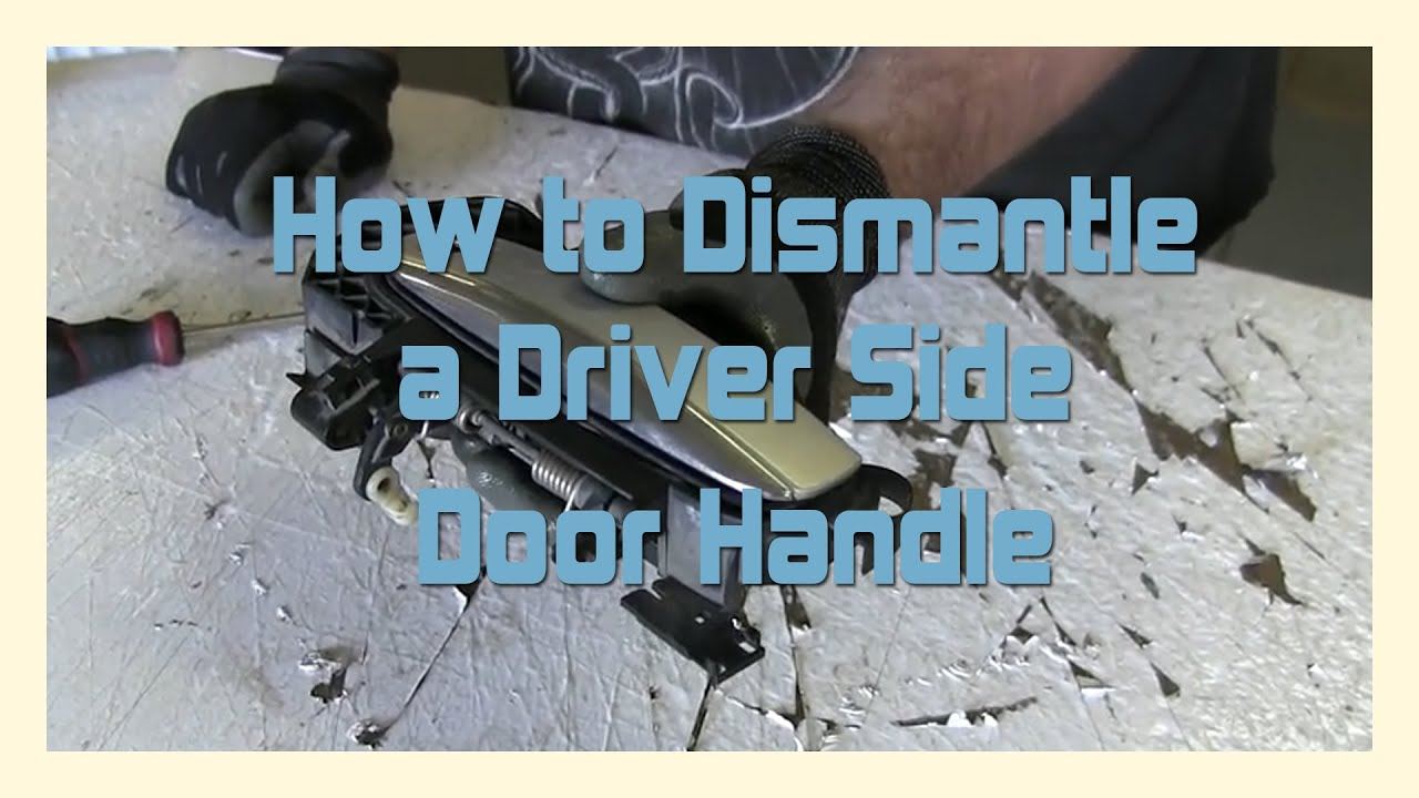 How To Dismantle A Driver Side Door Handle - 2004-2011 AUDI A6 / C6 ...