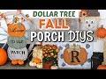 DIY DOLLAR TREE FALL PORCH DECOR   DIY FALL PORCH Dollar Tree   Krafts by Katelyn