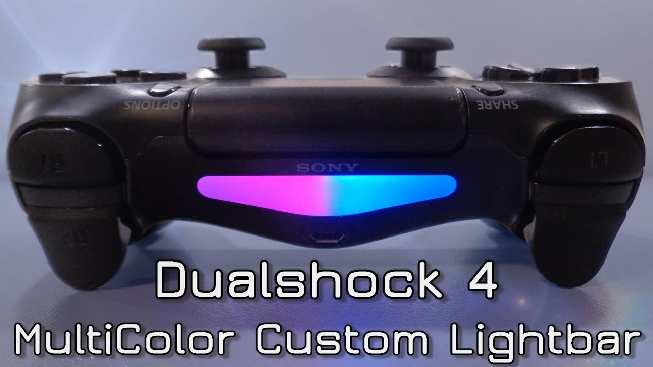 Dualshock 4 Multicolor Custom Lightbar Led Youtube