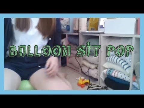 ASMR : Balloon Sit Pop / 앉아서 풍선 터뜨리긔 🎈 thumbnail