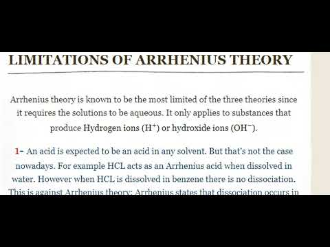 What are the Limitations of Arrhenius Theory?