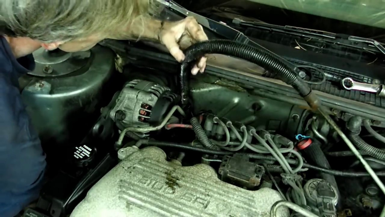 2000 dodge caravan belt diagram power flame wiring steering pressure line replacement - youtube