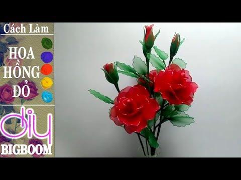 Hướng dẫn cách tự làm Hoa Hồng bằng vải voan cực đẹp | DBB-VN | Foci