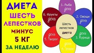 ДИЕТА 6 ЛЕПЕСТКОВ  МИНУС 5кг ЗА 6 ДНЕЙ