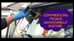 Freightliner Cascadia Truck Windshield Repair DIY Tutorial FedEx Custom Critical E9