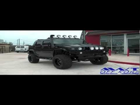 Nice Lifted Black Hummer H2 with 20 Inch XD Series Bomb Wheels