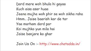 BANJARA FULL SONG LYRICS 2014 (Jaise Banjare Ko Ghar) - Ek Villain Song