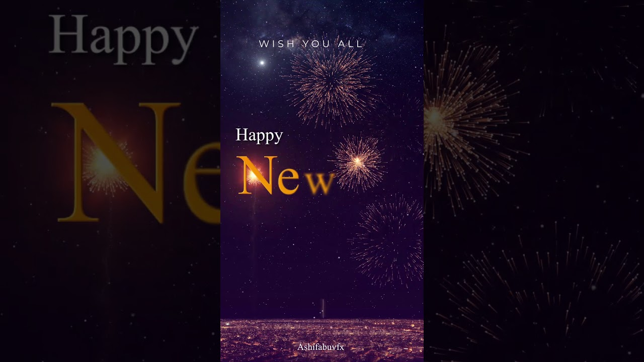 free template after effect happy new year